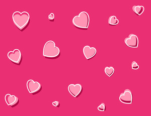 Cartoon Background - Hearts Pattern
