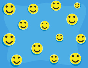 Cartoon Background - Smileys Pattern