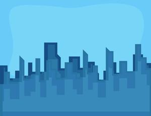 Cartoon Background - Urban Skyline