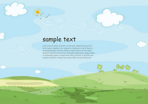 Cartoon Background Vector Illustration
