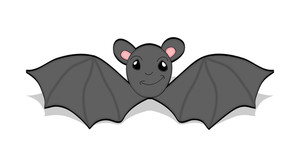Cartoon Bat Flying