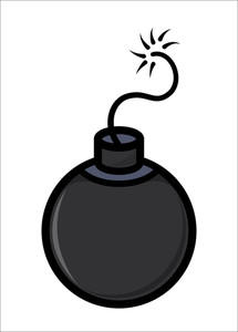 Cartoon Bomb - Vector Illustration