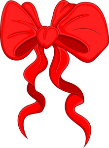 Cartoon Bow - Christmas Vector Illustration