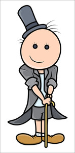 Cartoon Boy In Magician Dress - Vector Illustrations