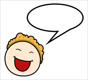 Cartoon Boy - Speech Bubble - Vector Illustrations