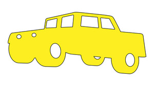 Cartoon Car Shape