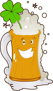 Cartoon Character - Beer Glass St Patrick's Day