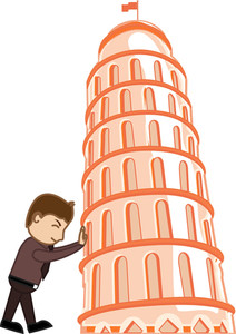 Cartoon Character - Pisa Tower