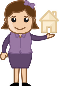Cartoon Character - Real Estate - Investment Concept
