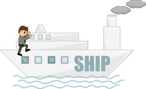 Cartoon Character - Ship Voyage
