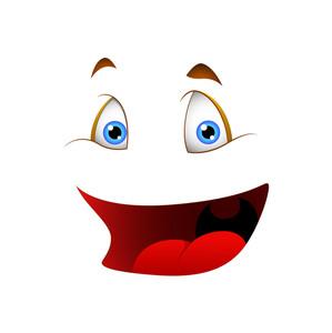 Cartoon Cheerful Face