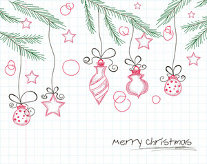 Cartoon Christmas Background Vector Illustration
