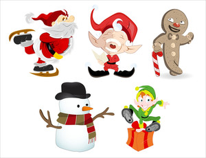 Cartoon Christmas Characters
