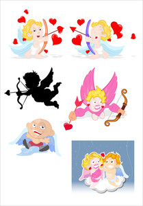 Cartoon Cupids Vectors