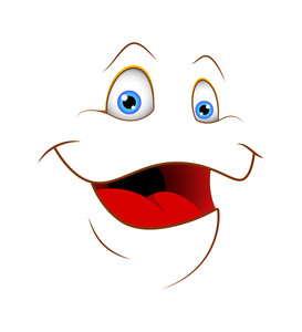 Cartoon Cute Laughing Face