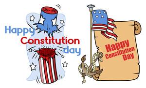 Cartoon Design Constitution Day Vector Illustration
