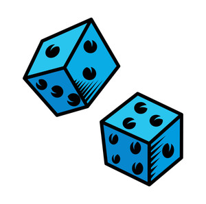 Cartoon Dice Vector Illustration