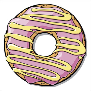 Cartoon Donut Illustration.