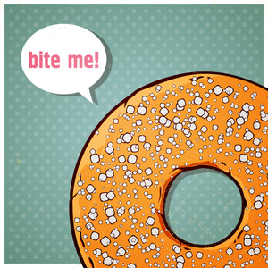 Cartoon Donut Vector Illustration.