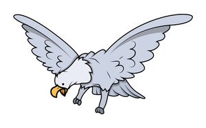 Cartoon Eagle Bird Character