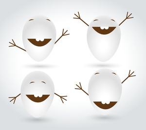 Cartoon Eggs Vectors