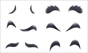 Cartoon Eyebrows Vectors