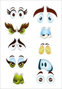 Cartoon Eyes Expressions
