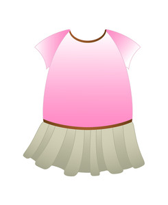 Cartoon Female Dress
