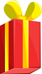 Cartoon Gift Box - Christmas Vector Illustration