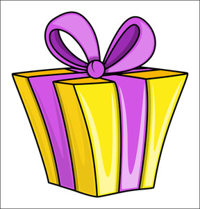 Cartoon Gift Box - Vector Illustrations
