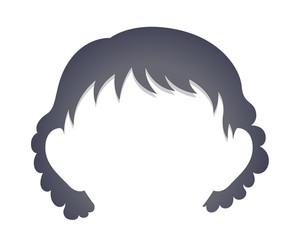 Cartoon Girl Hair