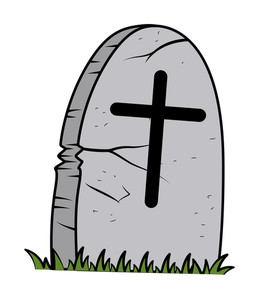 Cartoon Grave - Halloween Vector Illustration