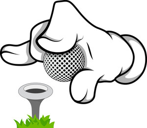 Cartoon Hand - Golf - Vector Illustration