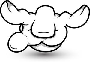 Cartoon Hand - Magic Spell  - Vector Illustration