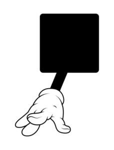 Cartoon Hand Playing With Fingers Vector Banner