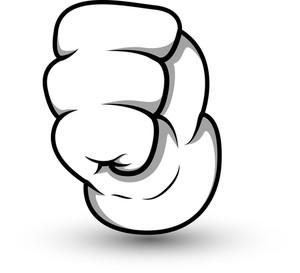 Cartoon Hand Punch - Vector Illustration