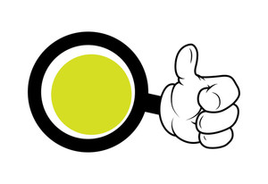 Cartoon Hand Showing Thumbs Up Circle Banner