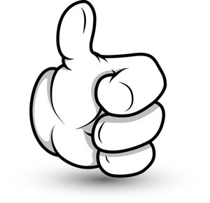 Cartoon Hand - Thumbs Up- Vector Illustration