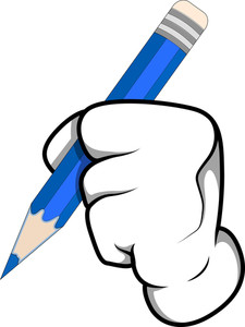 Cartoon Hand - Writing - Vector Illustration