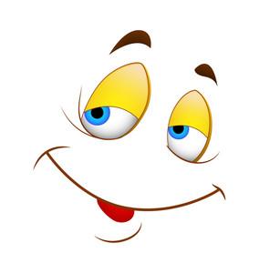 Cartoon Happy Face Vector Illustration