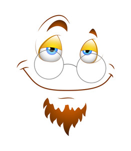 Cartoon Happy Face With Specs