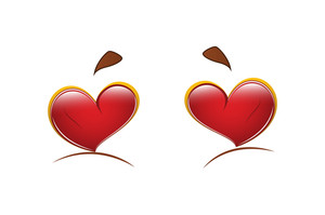 Cartoon Heart Eyes