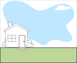 Cartoon House Vector Background