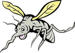 Cartoon Mosquito Flying