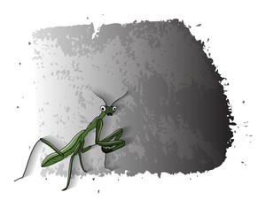 Cartoon Mosquitoes Grunge Banner