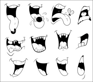 Cartoon Mouth Vectors