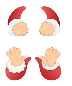 Cartoon Santa Claus Hands