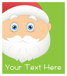 Cartoon Santa Claus Scared Face