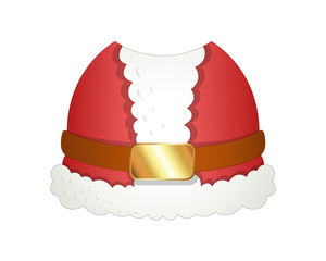 Cartoon Santa Costume Vector