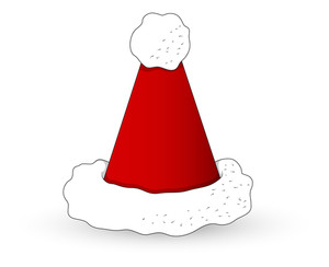 Cartoon Santa Hat - Christmas Vector Illustration